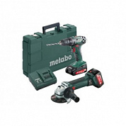 Болгарка и шуруповерт Metabo Combo Set 2.4.3 18 V *BS18+W18